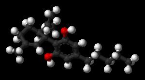 3D-Modell des Cannabidiol-Moleküls