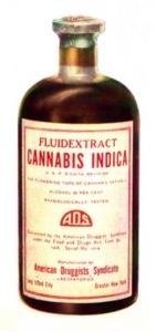Flasche mit Cannabisextrakt von 1937